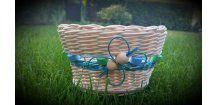 Veselý modrý košíček