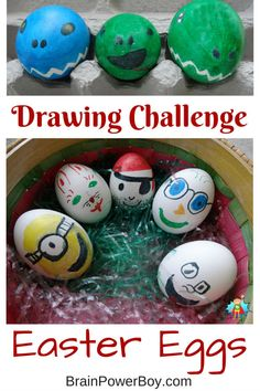 I challenged my son to move his drawing from paper to Easter Eggs. Tips for trying this fun Easter Egg Decorating activity.