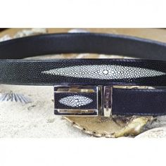 String Ray Dress Belt from Cellar Leather
