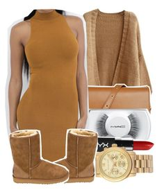 """""""- fall is coming"""" by laurenprodteddybear ❤ liked on Polyvore featuring Retrò, MAC Cosmetics, Michael Kors and UGG Australia"""