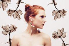 MELON/  Gold leather & velvet earringsReady to by DDSLLGirlsStore, $35.00