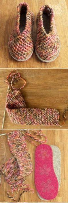 New And Stylish Free Crochet Patterns - Diy Rustics Crochet Shoes, Crochet Purses, Crochet Lace, Free Crochet, Knit Slippers Free Pattern, Knitted Slippers, Soft Baby Shoes, Pattern Cute, Crochet Girls