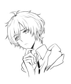 A photo from poses , perspective , thinking Anime Boy Sketch, Anime Drawings Sketches, Art Drawings, Drawing Base, Manga Drawing, Manga Art, Anime Lineart, Psychedelic Drawings, Anime Character Drawing