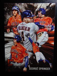 2017 Topps Series 1 #5T-30 George Springer Houston Astros 5 Tool Baseball Card #Topps #HoustonAstros