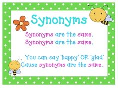Cute synonym and antonym posters and song (tune of Farmer in the Dell)! Speech Language Therapy, Speech And Language, Language Arts, Speech Therapy, English Language, Teaching 5th Grade, Teaching Reading, Teaching Grammar, Synonym Activities