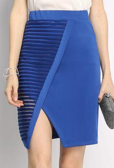 Diagonal Slit Skirt $16.99