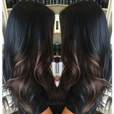 Ombre Wonderful Highlights for Dark Hair! Alpingo Balayage , Wonderful Highlights for Dark Hair! Wonderful Highlights for Dark Hair! Wonderful Highlights for Dark Hair! Dark Ombre Hair, Ombre Hair Color, Bayalage Black Hair, Hair Colors, Black Ombre, Subtle Ombre, Short Ombre, Dark Blonde, Black Hair With Highlights
