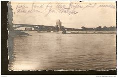 Germany, photo postcard - echte photographier - to identify - Bridge - past post in 1917