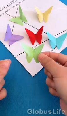 Cool Paper Crafts, Paper Flowers Craft, Diy Paper, Fun Crafts, Instruções Origami, Paper Crafts Origami, Diy Crafts Hacks, Diy Crafts For Gifts, Barn