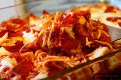 Pizza Spaghetti Casserole - Tried and Tasty