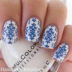 China pattern nails