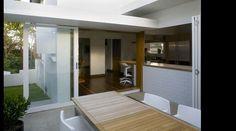 Owen and vokes  alderley house  indoor outdoor area and kitchen