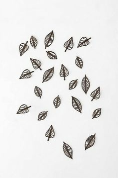 "another option for wall in the staircase. Buy 2 to 3 packages of these ""falling leaves"" and scatter them in clusters on the wall as if they are falling down the staircase"
