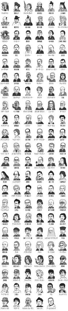 タラジロウ : さくっと3行でわかるビジネスマンとして知らないと恥をかく500人 Classical Art Memes, Japanese Drawings, Japanese History, Word Pictures, Pictogram, Digital Illustration, Icon Design, Illustrators, Infographic