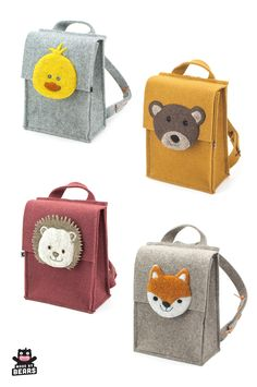 Cute animal kids backpack - boy and girl. Bear, little chicken, fox and hedgehog. Cute animal kids backpack – boy and girl. Bear, little chicken, fox and hedgehog. Kids Backpack Boys, Toddler Backpack, Diaper Bag Backpack, Little Backpacks, Animal Backpacks, Boys Backpacks, School Backpacks, Cute Diaper Bags, Bag Essentials