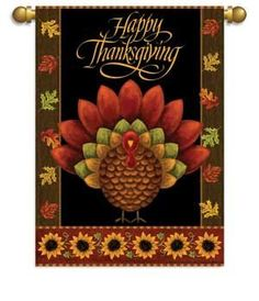 Gobble Gobble Thanksgiving Garden Flag Banner 29 x 42 by Flag Center. $12.59. High quality garden banner.. Double sided flag.. 29 x 42. Amazing detail. Gobble Gobble Thanksgiving Garden Flag Banner 29 x 42 High quality garden banner. Amazing detail. Double sided flag. If words are on flag, both sides will dispaly words correctly. Dimensions: 29 x 42 Includes flag. Garden Pole not included.