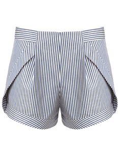 Blue Stripe Side Panel Shorts | Thakoon Addition | Avenue32