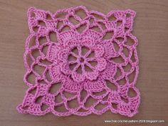 Girlie's Crochet: Flower square motif