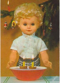 Lets Celebrate, Antique Dolls, Czech Republic, Vintage Antiques, Postcards, Christmas Cards, Toys, Christmas E Cards, Activity Toys