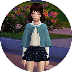 Child cape coat & tiered skirt at Marigold via Sims 4 Updates Check more at http://sims4updates.net/clothing/child-cape-coat-tiered-skirt-at-marigold/