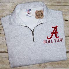 Alabama 1/4 zip sweatshirt by StewartAvenue on Etsy