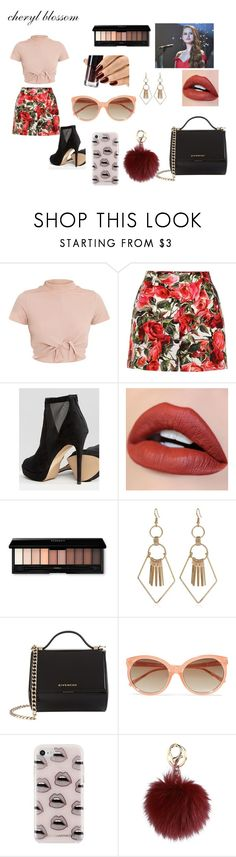 """cheryl blossom riverdale"" by sheatheunicorn on Polyvore featuring Dolce&Gabbana, ALDO, Givenchy, Linda Farrow and Rebecca Minkoff"