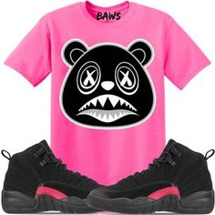 a6aa5eb15 Jordan 12 Pink Rush Sneaker Tees Shirt to match is available in sizes Small -3XL