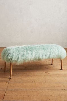 Luxe Fur Bench #anthropologie