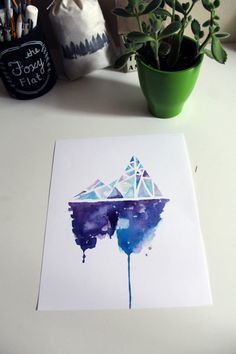 Abstract Ice Berg by eatbrunchdaily on Etsy