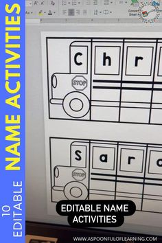 Do you practice name writing at the beginning of the year? I always get students who know how to write their name and many who do not. Either way is absolutely okay! Regardless, name writing is so important to practice. This is a skill that everyone will be doing for the rest of their lives! These editable name activities has students practicing writing their names in hands-on, engaging, and interactive ways! Here is a peek at one of the ten editable name activities included!