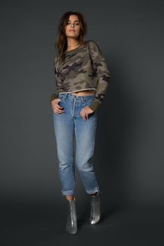 Baxter Cropped French Terry Top