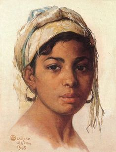 Emile Deckers - Portrait of an Oriental girl - paulgosselin