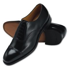 Black Oxford shoes | Men's business shoes from Charles Tyrwhitt | CTShirts.com