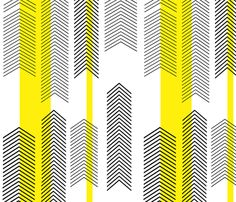 chevron stripe in yellow fabric by cristinapires on Spoonflower - custom fabric