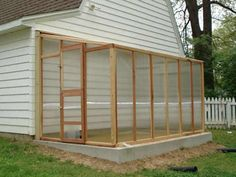 Wooden Lean to Greenhouse - Santa Barbara Redwood Standard style - 7' x 16'. 4 mm twin-wall corrugated polycarbonate available at $1894.00 or 6 mm twin-wall corrugated polycarbonate at $2480.00. The panels slip perfectly into channels, creating dead air spaces acting as insulation. Check out our website for all available sizes and Complete Packages.