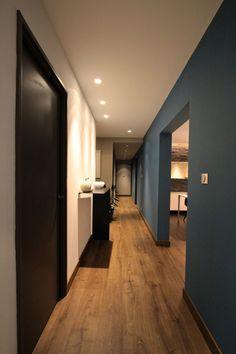 Renovation of a Loft in Strasbourg by interior Design Home Room Design, Home Interior Design, House Design, Casa Top, Loft Door, Flur Design, Hallway Designs, Hallway Decorating, Decorating Ideas