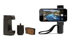 Shoulderpod kan bruges til forskellige typer smartphones. Kan skrues på stativ og har en vis vægt, så den ligger godt i hånden.