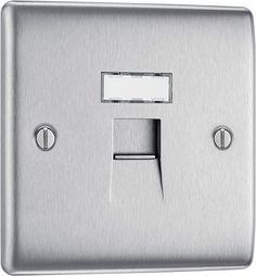 BG Electrical RJ45 Single Data Outlet, Brushed Steel: Amazon.co.uk: DIY & Tools
