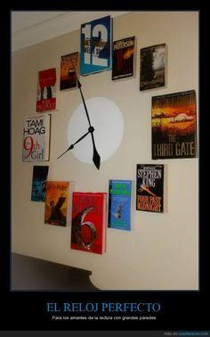 ¿Te gusta leer? Te gustará este reloj :) - Para los amantes de la lectura con grandes paredes