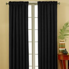 Shop Wayfair for Eclipse Curtains Suede Rod Pocket Window Single Curtain Panel - Great Deals on all Decor products with the best selection to choose from! Blackout Panels, Blackout Windows, Black Curtains, Drapes Curtains, Eclipse Curtains, All Of The Lights, Sound Proofing, Room Darkening, Window Panels
