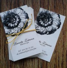 Floral Medallion - wizytówki / business cards