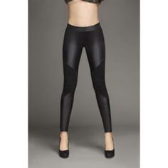 Faux leather leggings kardashian kollection