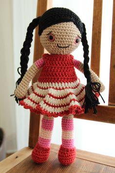 handmade crochet amigurumi doll Arabella