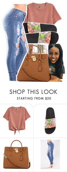 """""""Untitled #271"""" by glowithbria ❤ liked on Polyvore featuring Gucci and Michael Kors"""
