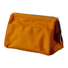 UPPTÄCKA Toiletries bag - yellow-orange - IKEA (My favorite toiletries bag! I'd like one in black :)