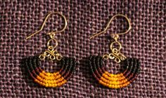 Peruvian Macrame earrings handmade. by PeruMade on Etsy, $16.00