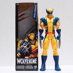"Marvel Super Hero X-men Wolverine Iron Man PVC Action Figure Collectible Toy 12""30CM Retail Free Shipping"