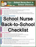 School Nurse Back-to-School Checklist and additional resources