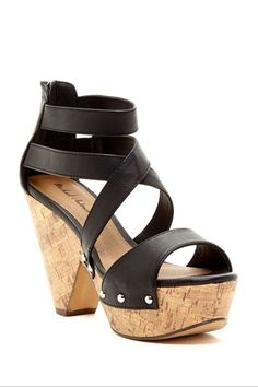 Michael Antonio Globe High Heel Sandal by Michael Antonio on @HauteLook