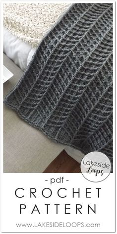 dreieckstuch The modern chevron cable design of this blanket throw makes this crochet pattern. , stricken dreieckstuch The modern chevron cable design of this blanket throw makes this crochet pattern. Crochet Afghans, Modern Crochet Blanket, Modern Crochet Patterns, Afghan Crochet Patterns, Baby Blanket Crochet, Diy Crochet, Crochet Crafts, Crochet Stitches, Crochet Projects